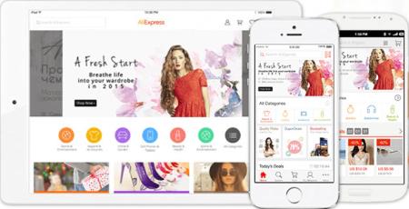 Приложение AliExpress на любые мобильные устройства