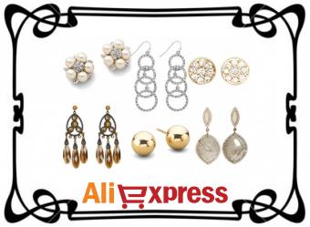 Красивые серьги на AliExpress