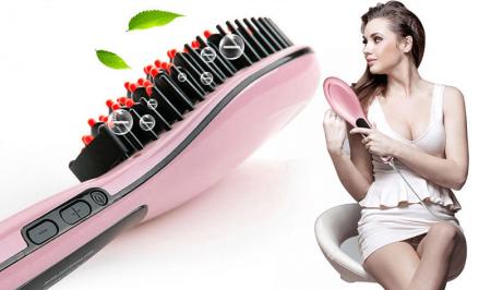 Электрическая щётка для выпрямления волос на картинке