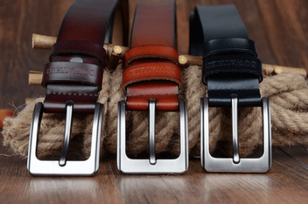 Стильный мужской кожаный ремень с AliExpress на картинке