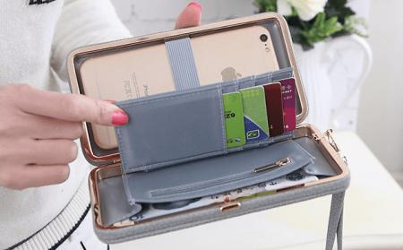 Стильный женский кошелёк с AliExpress на картинке