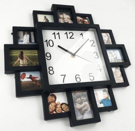 Современные настенные часы на картинке