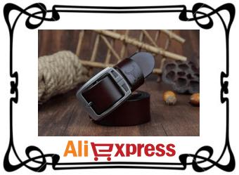 Стильный мужской кожаный ремень с AliExpress
