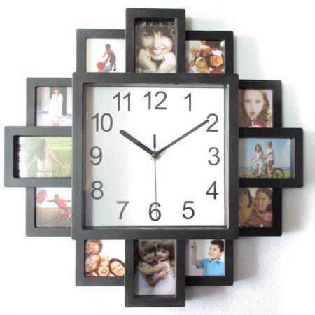 Современные настенные часы на фото