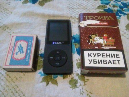 Размер MP3-плеера