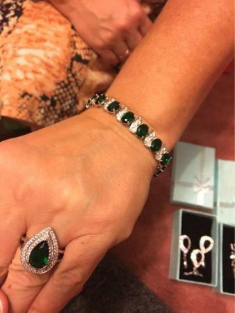 Женский ювелирный набор с AliExpress кольцо и браслет