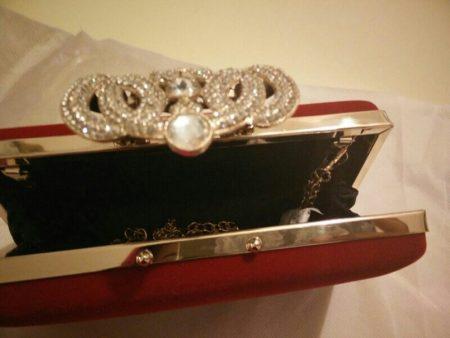 Стильный женский клатч с Aliexpress открыт