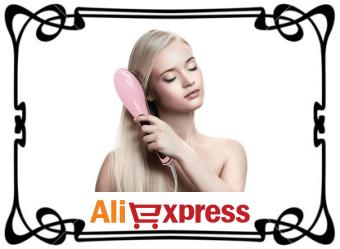 Электрическая щётка для выпрямления волос с AliExpress
