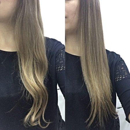 Эффект выпрямления волос
