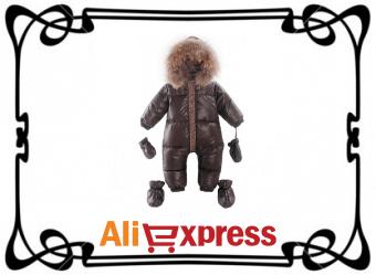 Детский зимний комбинезон с AliExpress