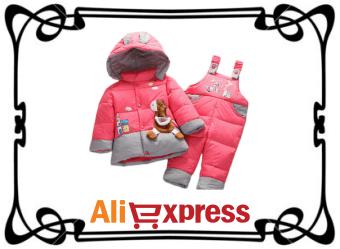 Детский зимний комплект одежды с AliExpress