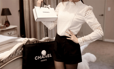 Женская блузка с длинным рукавом с AliExpress на картинке