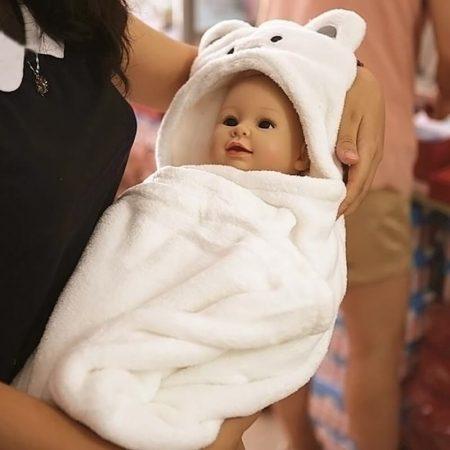 Мягкое полотенце для младенцев с Aliexpress на картинке