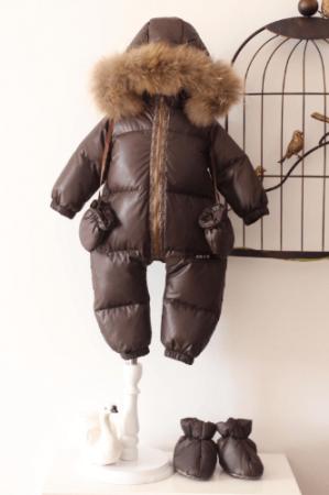 Детский зимний комбинезон с AliExpress на картинке