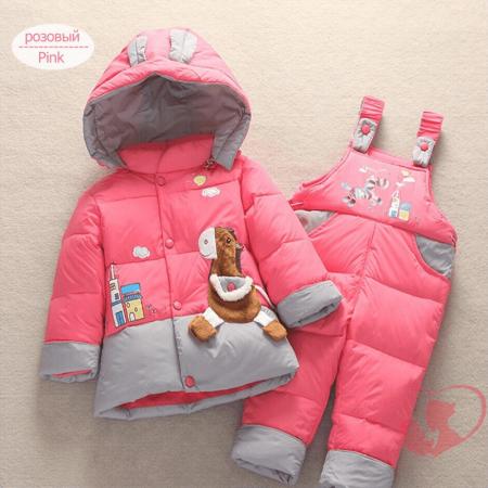Детский зимний комплект одежды с AliExpress на картинке