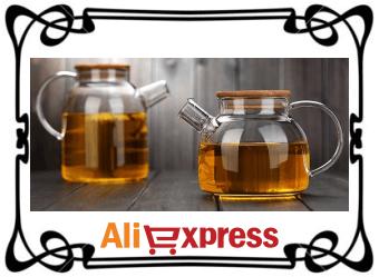 Стеклянный чайник с фильтром с AliExpress