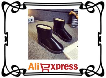 Тёплые женские угги с AliExpress