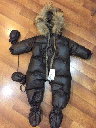 Детский зимний комбинезон с AliExpress на фото