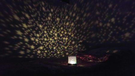 Мигающий ночник «Звёздное небо» с AliExpress ночью