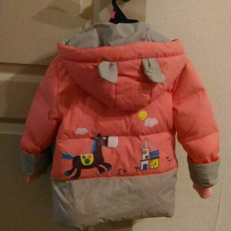 Детский зимний комплект одежды с AliExpress сзади