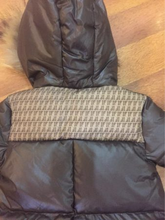 Детский зимний комбинезон с AliExpress сзади