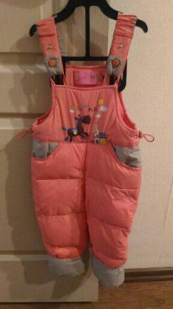Детский зимний комплект одежды с AliExpress штанишки