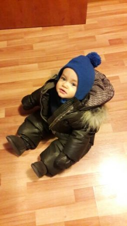 Детский зимний комбинезон с AliExpress малыш