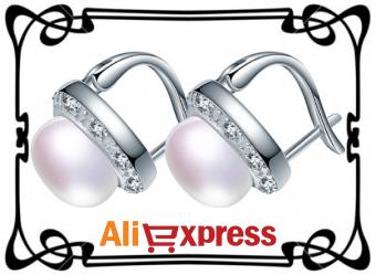Изящные серьги с жемчугом с AliExpress