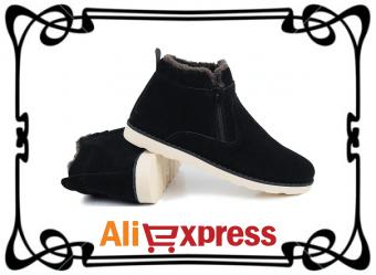 Мужские зимние полусапоги с AliExpress
