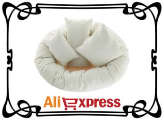 Мягкий пончик для фотосессии новорождённых с AliExpress