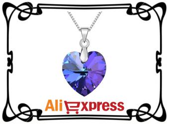 """Ожерелье с подвеской """"Сердце"""" с AliExpress"""