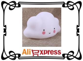 Светодиодный ночник «Облако-улыбка» с AliExpress
