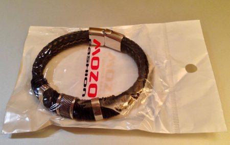 Мужской модный кожаный браслет с AliExpress посылка