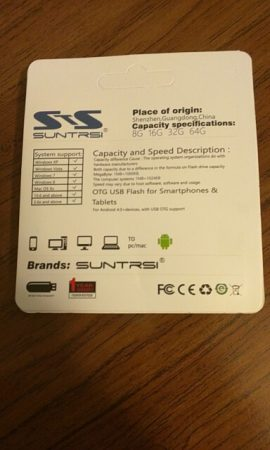 USB 3.0 Флешка с AliExpress коробка сзади