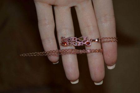 Набор ювелирных украшений с AliExpress ожерелье