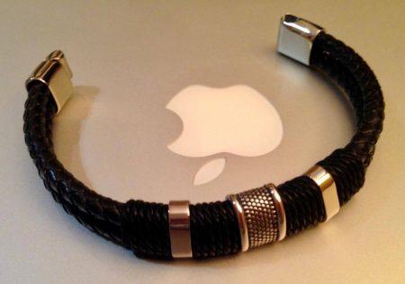 Мужской модный кожаный браслет с AliExpress на макбуке