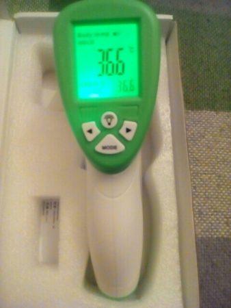 Цифровой инфракрасный термометр с AliExpress включён
