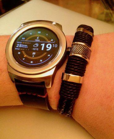Мужской модный кожаный браслет с AliExpress с часами