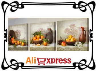 3 настенных холста с AliExpress по низкой цене
