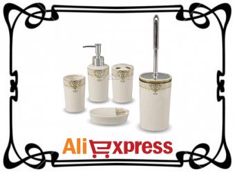 Аксессуары для ванной и туалета на AliExpress