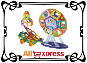 Детский магнитный конструктор с AliExpress