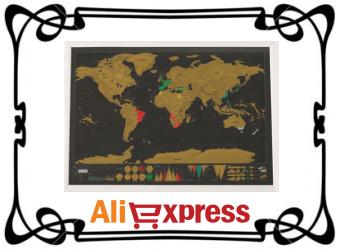 Карта мира со стираемым слоем с AliExpress