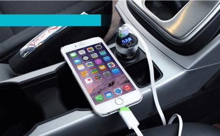 Зарядное устройство в автомобиль с AliExpress на картинке