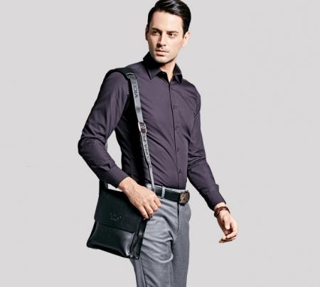 Мужская кожаная сумка через плечо с AliExpress на картинке
