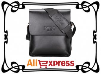 Мужская кожаная сумка через плечо с AliExpress