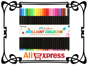 Набор фломастеров с AliExpress