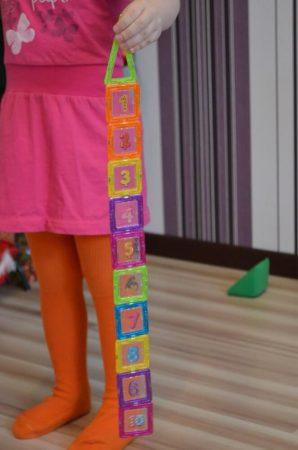 Детский магнитный конструктор с AliExpress цифры