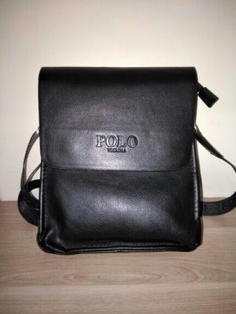Мужская кожаная сумка через плечо с AliExpress спереди