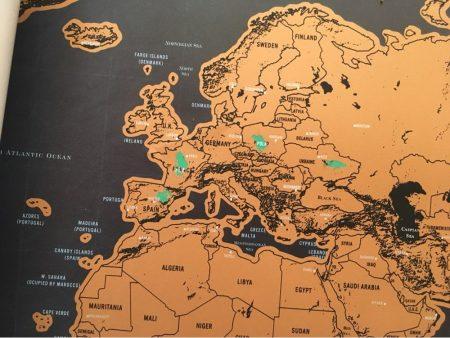 Карта мира со стираемым слоем с AliExpress страны
