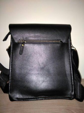 Мужская кожаная сумка через плечо с AliExpress сзади